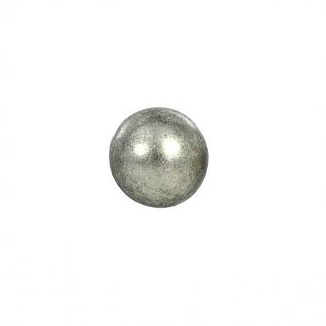 Bouton en métal argenté rond 12 mm