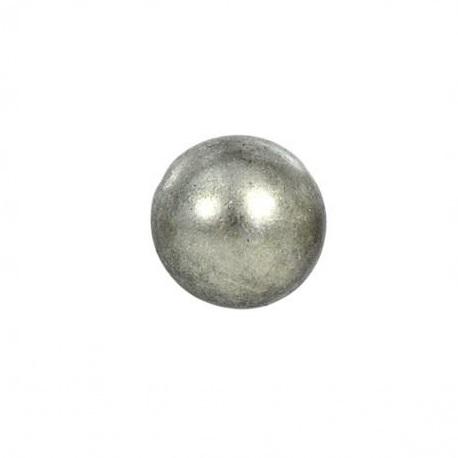 Bouton en métal argenté rond 15 mm