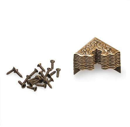 Coin de sac, embout de sangle ciselé bronze 25 mm