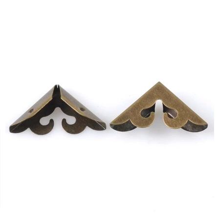 Coin de sac, embout de sangle bronze découpé 27 mm