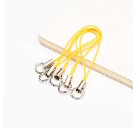 Lot de 2 porte clés filaire jaune or