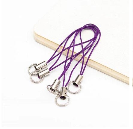 Lot de 2 porte clés filaire violet