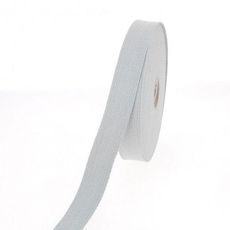 Sangle coton 23 mm Gris clair