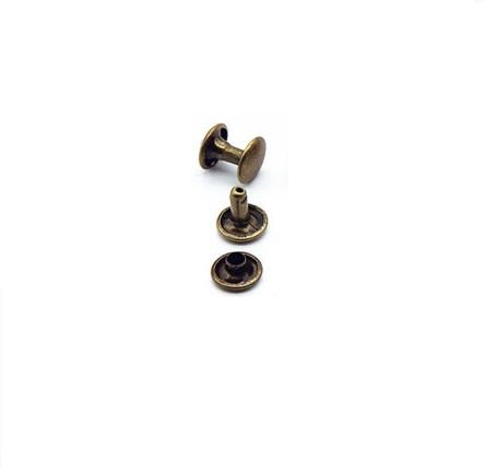 Rivet double calotte 6 mm bronze