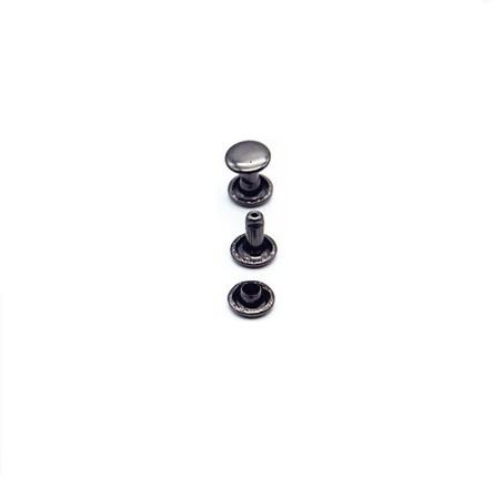 Rivet double calotte 6 mm Noir