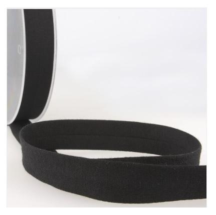 Biais jersey 20 mm noir
