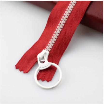 Fermeture non séparable 30 cm Rouge / Blanc