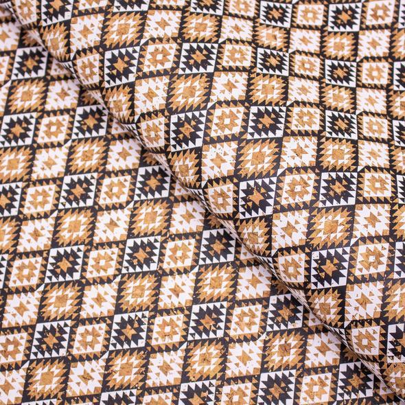 Liège Luxe MB Cork 50x32cm mosaïque noire et blanche