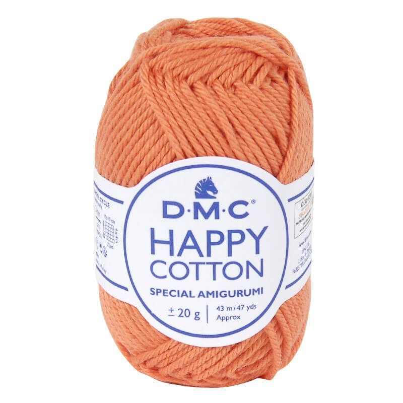 Coton happy cotton DMC 753 Orange tangerine