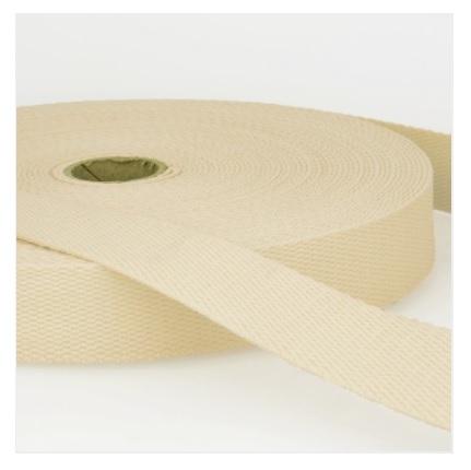 Sangle coton 25 mm écru