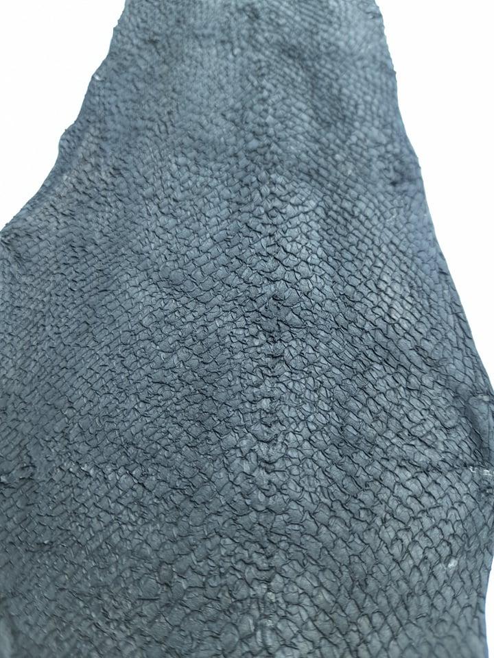Cuir de poisson grande peau Noir