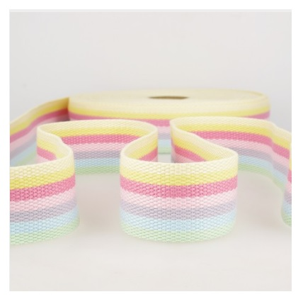 Sangle polyester 40 mm multicolore pastel