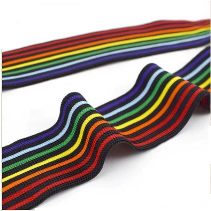 Sangle tricot polyester 40 mm multicolore