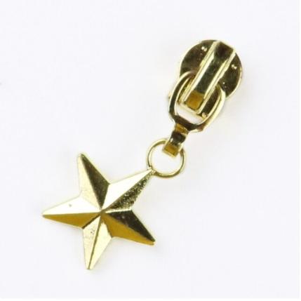 Curseur étoile pleine pour fermeture métallique #5 Or