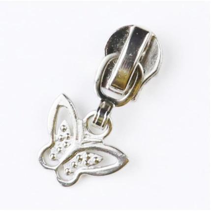 Curseur papillon pour fermeture métallique #5 Argent
